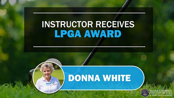 Instructor Receives LPGA Award